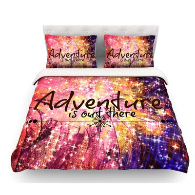 Adventure is Out There by Ebi Emporium Featherweight Duvet Cover Size: King