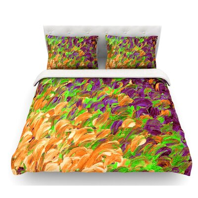 Follow the Current by Ebi Emporium Featherweight Duvet Cover Size: Twin, Color: Orange/Green