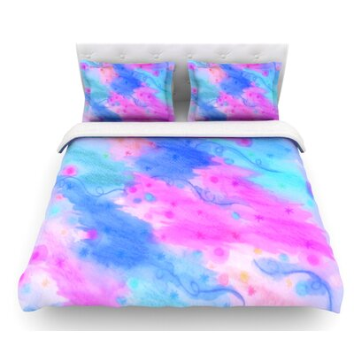 Seeing Stars II by Ebi Emporium Featherweight Duvet Cover Size: Twin