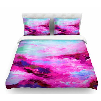 Taken by the Undertow by Ebi Emporium Featherweight Duvet Cover Color: Pink/Magenta, Size: Twin