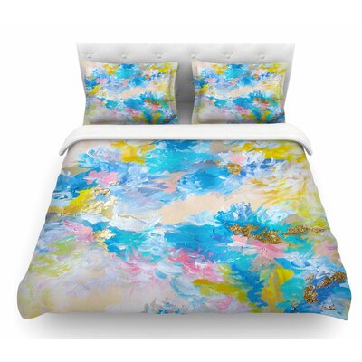 When We Were Mermaids by Ebi Emporium Featherweight Duvet Cover Size: Queen, Color: Blue/Yellow