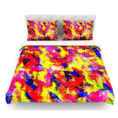 The Flock by Ebi Emporium Featherweight Duvet Cover Size: Queen