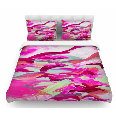 Still Up by Ebi Emporium Featherweight Duvet Cover Size: Queen, Color: Pink/Magenta