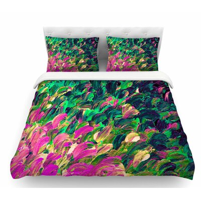 Follow the Current by Ebi Emporium Featherweight Duvet Cover Size: Queen, Color: Pink/Green