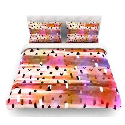 Geo Party by Ebi Emporium Featherweight Duvet Cover Size: Queen