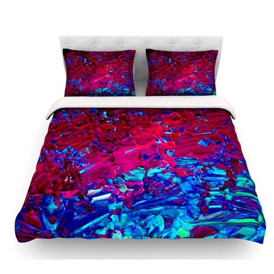 Eternal Tide by Ebi Emporium Featherweight Duvet Cover Color: Red/Blue, Size: Queen