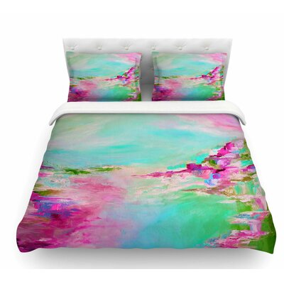 Something About the Sea by Ebi Emporium Featherweight Duvet Cover Size: Queen, Color: Teal/Pink