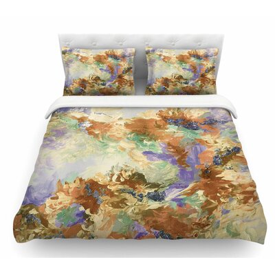 When We Were Mermaids by Ebi Emporium Featherweight Duvet Cover Color: Lavender/Tan, Size: Twin