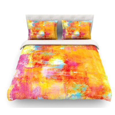 Off the Grid by Ebi Emporium Featherweight Duvet Cover Size: King, Fabric: Cotton