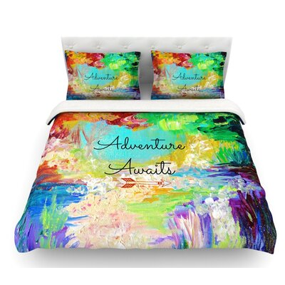Adventure Awaits by Ebi Emporium Featherweight Duvet Cover Size: Twin