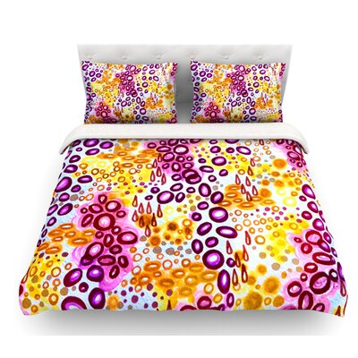 Circular Persuasion by Ebi Emporium Featherweight Duvet Cover Color: Purple/Yellow/Pink, Size: Twin