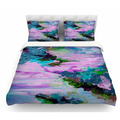 On Cloud Nine by Ebi Emporium Featherweight Duvet Cover Size: Twin, Color: Pink/Teal