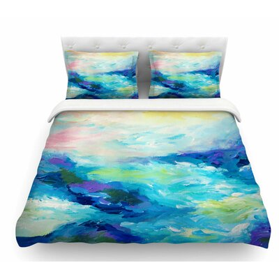 Taken by the Undertow by Ebi Emporium Featherweight Duvet Cover Color: Green/Blue, Size: Twin
