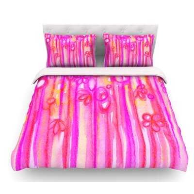 Sensations by Ebi Emporium Featherweight Duvet Cover Size: Twin, Color: Pink/Magenta, Fabric: Cotton
