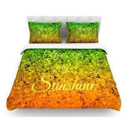 You Are My Sunshine by Ebi Emporium Featherweight Duvet Cover Size: Twin