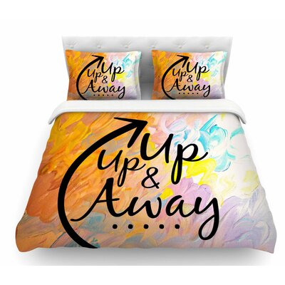 Up Up and Away by Ebi Emporium Featherweight Duvet Cover Size: King