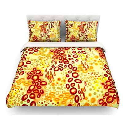 Circular Persuasion by Ebi Emporium Featherweight Duvet Cover Color: Brown/Yellow, Size: Twin