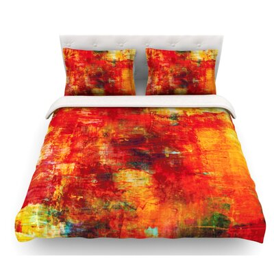 Autumn Harvest by Ebi Emporium Featherweight Duvet Cover Size: Queen