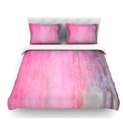 Color Wash by Iris Lehnhardt Featherweight Duvet Cover Size: Twin, Color: Pink, Fabric: Lightweight Polyester