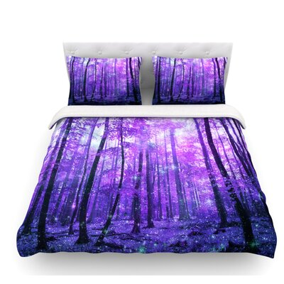 Magic Woods by Iris Lehnhardt Forest Featherweight Duvet Cover Size: Twin
