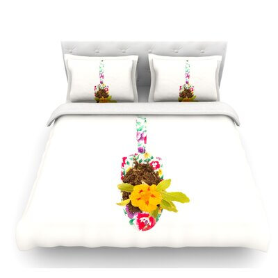 The Gardener by ingrid Beddoes Featherweight Duvet Cover Size: Twin