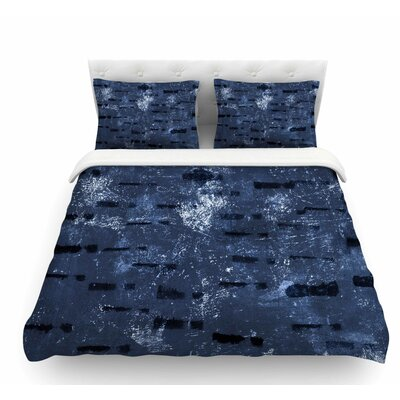 Tex Mix by Iris Lehnhardt Abstract Featherweight Duvet Cover Color: Blue, Size: King