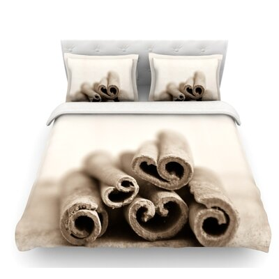 Cinnamon by Iris Lehnhardt Featherweight Duvet Cover Size: Twin, Color: Sepia/Gray