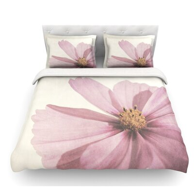 Ethereal by Iris Lehnhardt Petals Featherweight Duvet Cover Size: King, Fabric: Lightweight Polyester