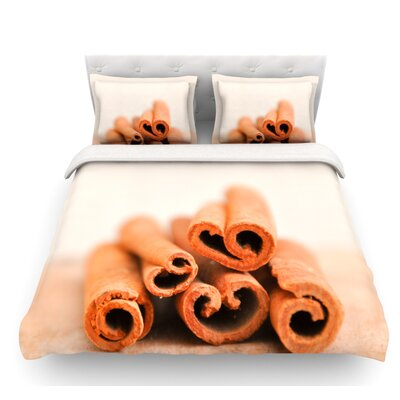Cinnamon by Iris Lehnhardt Featherweight Duvet Cover Size: Twin, Color: Brown
