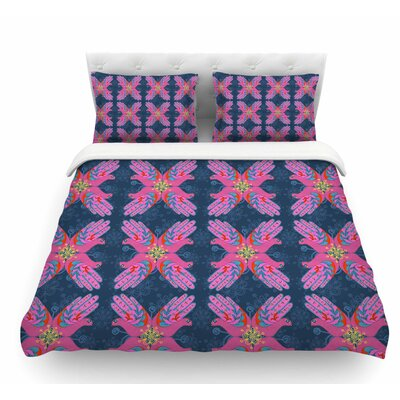 Hamsa by Jane Smith Featherweight Duvet Cover Size: Queen
