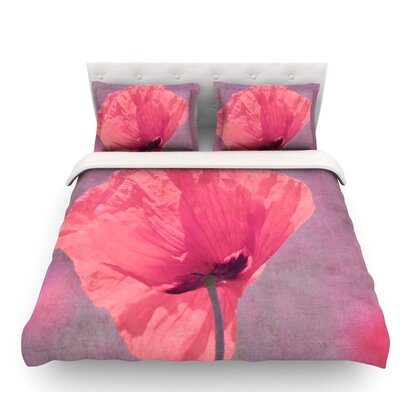 Poppy by Iris Lehnhardt Flower Featherweight Duvet Cover Size: Twin, Fabric: Lightweight Polyester