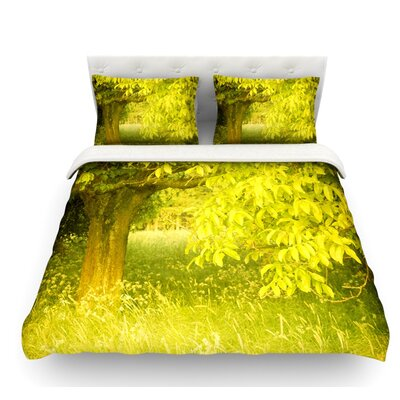 Summer by Iris Lehnhardt Tree Featherweight Duvet Cover Size: King, Fabric: Lightweight Polyester