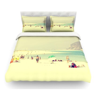Lazy Days by Ingrid Beddoes Summer Beach Featherweight Duvet Cover Size: Twin