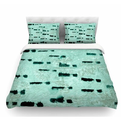 Texture by Iris Lehnhardt Featherweight Duvet Cover Color: Teal, Size: King