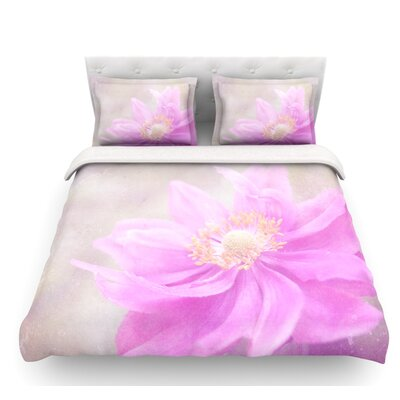 Wind Flower by Iris Lehnhardt Floral Featherweight Duvet Cover Size: Twin, Fabric: Cotton