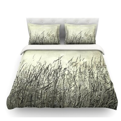 Summer Grasses by Iris Lehnhardt Neutral Featherweight Duvet Cover Size: Twin, Fabric: Lightweight Polyester