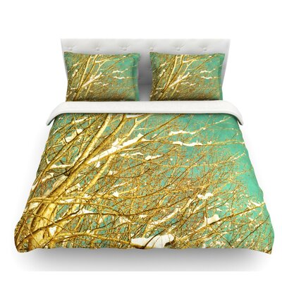Snow Covered Twigs by Iris Lehnhardt Featherweight Duvet Cover Size: King