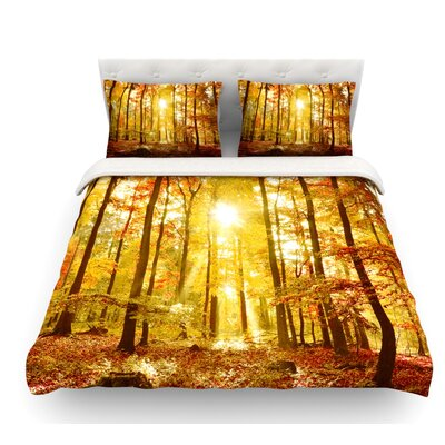 Sun Flooded by Iris Lehnhardt Featherweight Duvet Cover Size: King