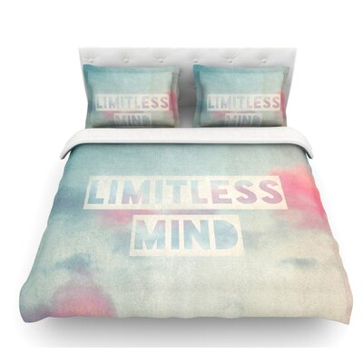 Limitless Mind by Ingrid Beddoes Clouds Featherweight Duvet Cover Size: King