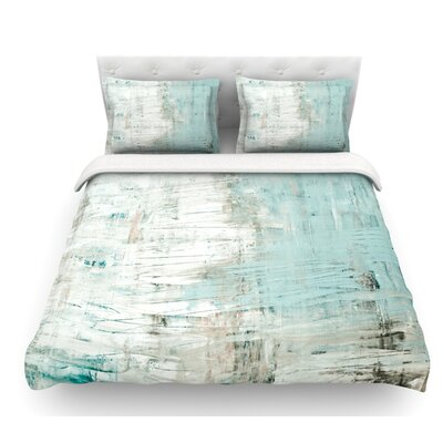 Bluish by Iris Lehnhardt Neutral Featherweight Duvet Cover Size: Queen, Fabric: Woven Polyester