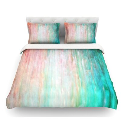 Color Wash by Iris Lehnhardt Featherweight Duvet Cover Size: Twin, Color: Teal/Blue/Turquoise, Fabric: Lightweight Polyester