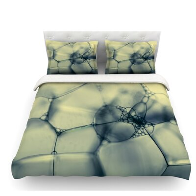 Bubbles by Ingrid Beddoes Featherweight Duvet Cover Size: Twin, Fabric: Lightweight Polyester