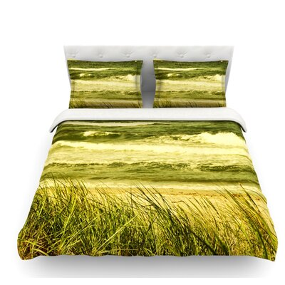 Dunes and Waves by Iris Lehnhardt Water Featherweight Duvet Cover Size: Twin