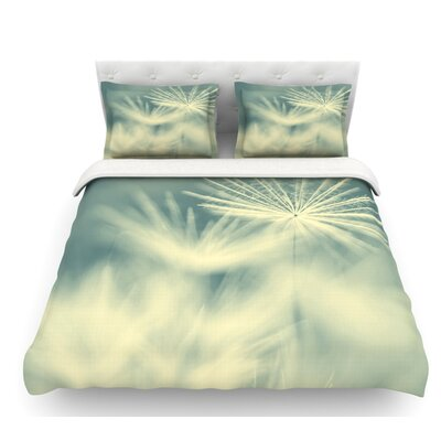 Snowflake by Ingrid Beddoes Featherweight Duvet Cover Size: Twin, Fabric: Woven Polyester