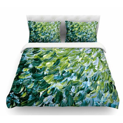 Frosted Feathers 3 by Ebi Emporium Featherweight Duvet Cover Size: King