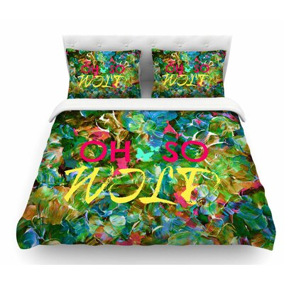 Oh So Wild by Ebi Emporium Featherweight Duvet Cover Size: Twin