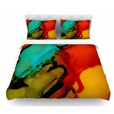 Caldera #1 by Abstract Anarchy Design Featherweight Duvet Cover Size: King