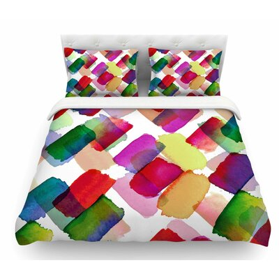 Strokes of Genius 2 by Ebi Emporium Featherweight Duvet Cover Size: Twin