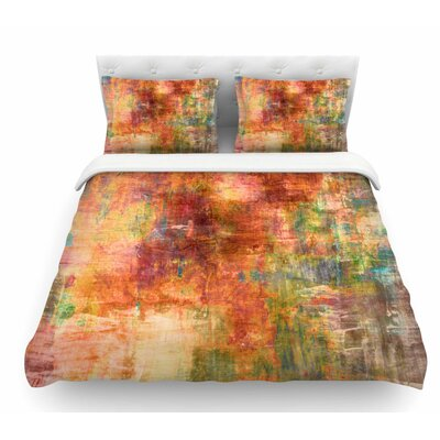 Hazy by Ebi Emporium Olive Featherweight Duvet Cover Size: King