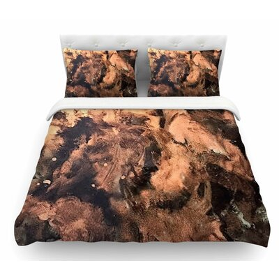 King Midas by Abstract Anarchy Design Abstract Featherweight Duvet Cover Size: King